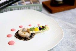 Spring Chicken Roulade with Foie Gras Terrine & White Wine Jelly