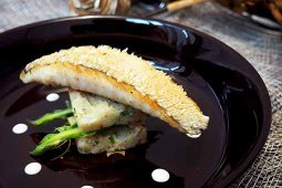 Crispy Horsehead Fillet with Chunky Potato & Shrimp Mash