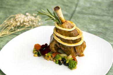 Braised Lamb Shank with Borlotti Beans
