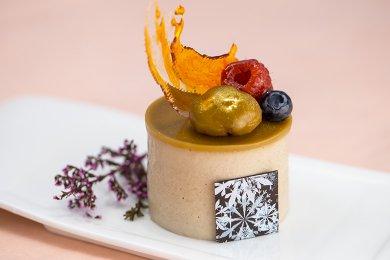 Caramel Chestnut Almond cake