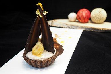 焦糖香蕉慕斯撻 (3吋4個)