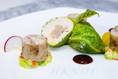 Award Winning Dish : Whole Chicken Roulade with Duck liver and Wild Mushroom Mousse