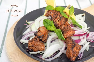 Tandoori Pork Loin with Mint and Coriander Dressing