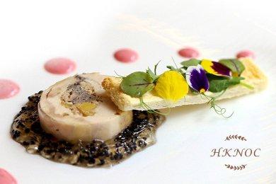 Spring Chicken Roller with Foie Gras Terrine & White Wine Jelly