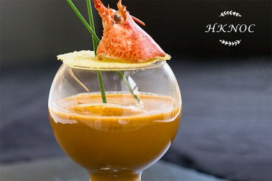 Lobster Bisque with Cognac Cream