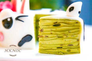 uji green tea red bean crepe
