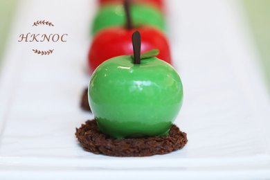 Green Apple Mousse with Nutty Chocolate Crunchy