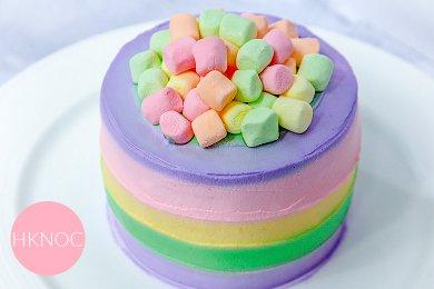 彩虹奶油蛋糕(4.5吋)