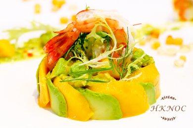 鮮蝦牛油果芒果沙律