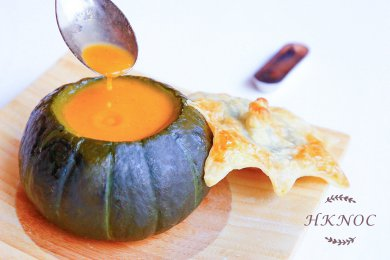 Crab Bisque with Puff Pastry & Pumpkin