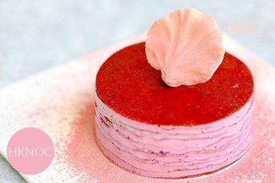 Red Dragon Fruit Mascarpone Mille Crepe Cake