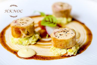 Chicken Roulade with Wild Mushroom Mousse