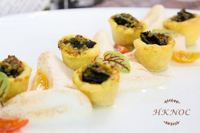 Baked Escargot Garlic Herbs Butter served with Homemade Puff Pastry