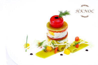 蟹肉芒果子薑沙律