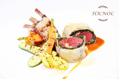 Baked Lamb Loin with Filo Pastry & Spinach