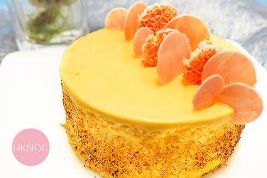 芒果覆盆子多層蛋糕