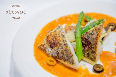 Pan Fried Barramundi with Tomato & Olive Sauce