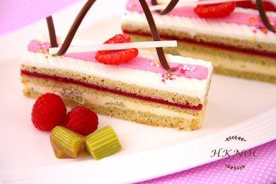 大黃紅桑子蛋糕(4件)