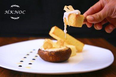 焗奶油蟹肉汁配大蘑菇