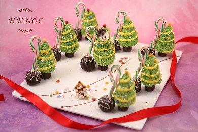 迷你脆米聖誕樹 (8個)