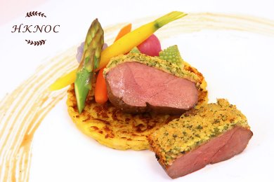 Provencal Duck Breast with Garlic Potato Cake & Black Pepper Sauce