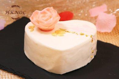 椰香芒果慕絲蛋糕(13.5cm直徑心形一個)