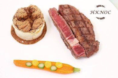Beef Steak with Black Truffle & Mushroom Souffle & Emince Sauce